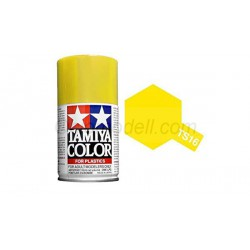 Spray  yellow gloss, amarillo brillante (85016). Bote 100 ml. Marca Tamiya. Ref: TS-16.