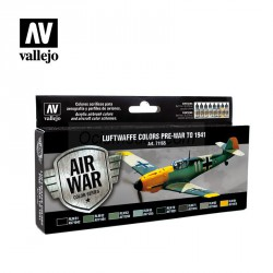 Model Air Luftwaffe Colors Pre-War to 1941. 8 Colores. Bote 17 ml. Marca Vallejo. Ref: 71165.