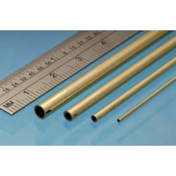 Tubo redondo Micro Latón 0.70 x 0.50 mm, 3 unidades. Marca Albion Alloys. Ref: MBT07.