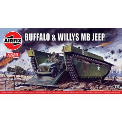 Buffalo Willys MB Jeep. Escala 1:76. Marca Airfix. Ref: A02302V.
