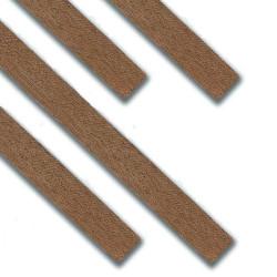 Chapa madera nogal 0.6 x 5 x 1000 mm. Paquete de 25 unidades. Marca Dismoer. Ref: 35268.