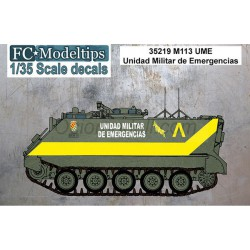 Calcas M113 UME, unidad militar de emergencias. Escala 1:35. Marca Fcmodeltips. Ref: 35219.