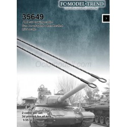 Cable de arrastre AMX-30. Escala 1:35. Marca FCmodeltrend. Ref: 35649.