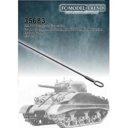 Cable de arrastre para M4 Sherman, M24 Chaffee, M5 Stuart, M10 Wolverine. Escala 1:35. Marca FCmodeltrend. Ref: 35683.