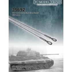Cables de arrastre para el tanque King Tiger. Escala 1:35. Marca FCmodeltrend. Ref: 35692.