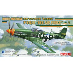 "North American P-51D/K ""8th Air Force"". Escala 1:48. Marca Meng. Ref: LS-010."