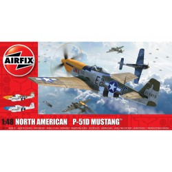 Caza North American P-51D Mustang. Escala 1:48. Marca Airfix. Ref: A05138.