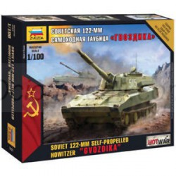 "Soviet 122-MM Self Propelled Howitzer ""GVOZDIKA"". Escala 1:100. Marca Zveda. Ref: 7421."