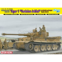 """Sd.Kpfw.VI Ausf.E Sd.Kfz 181 Tiger I """" Tunisian Inicial """". Escala 1:35. Marca Dragon. Ref: 6608."""