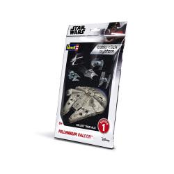 Millennium Falcon, Star Wars. Easy - Click System. Escala 1:241. Marca revell. Ref: 01100.