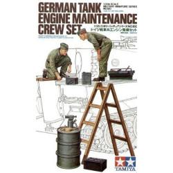 German tank engine Maintenance crew. Escala 1:35. Marca Tamiya. Ref: 35180.
