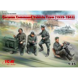 German Command Vehicle Crew 1939-1942, 4 figuras. Escala 1:35. Marca ICM. Ref: 35644.