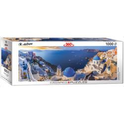 Santorini Greece. Puzzle horizontal 360º, 1000 pz. Marca Eurographics. Ref: 6010-5300.