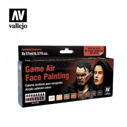 Set Game Air, Face Painting, 8 colores. Bote 17 ml. Marca Vallejo. Ref: 72865.