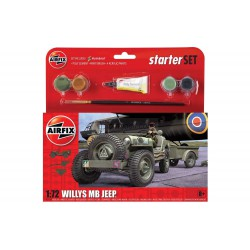 Small Starter Set Willys MB Jeep. Escala 1:72. Marca Airfix. Ref: A55117.