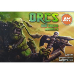 Sets Acrílicos de 3rd Generación Orcs and green models.6  Botes 17 ml. Marca Ak-Interactive. Ref: Ak11600.
