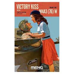 Victory Kiss, M4A3(76) W Tank + Resin Figures. Escala 1:35. Marca Meng. Ref: ES-006.