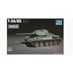 Soviet T-34/85 (Mod. 1944) Medium Tank. Escala 1:72. Marca Trumpeter. Ref: 07167.