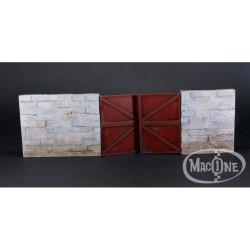 """Muro de bloques con puerta """"B"""". Escala 1:35. Marca Macone. Ref: MAC35141."""