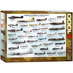 World War II Aircraft. Puzzle horizontal, 1000 pz. Marca Eurographics. Ref: 6000-0075.