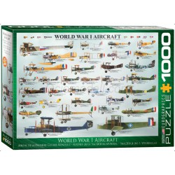 World War I Aircraft. Puzzle Horizontal, 1000 pz. Marca Eurographics. Ref: 6000-0087.