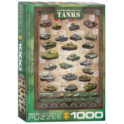 History of Tanks. Puzzle Vertical, 1000 pz. Marca Eurographics. Ref: 6000-0381.