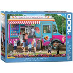 Dan's Ice Cream Van. Puzzle Horizontal, 1000 pz. Marca Eurographics. Ref: 6000-5519.