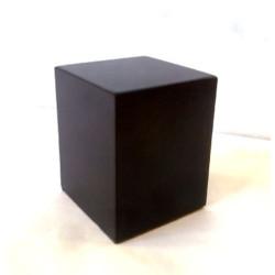 Peana Taco 50mm altura, Cuadrada 4 x 4 cm, Ebano. Tapizado inferior. Marca Peanas.net. Ref: 6001E.