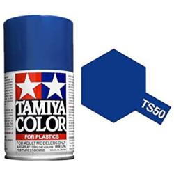 Spray Mica Blue, Mica Azul (85050). Bote 100 ml. Marca Tamiya. Ref: TS-50.