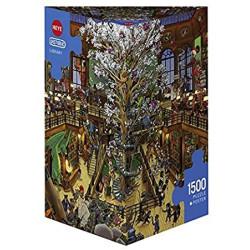 Library. Puzzle vertical, 1500 pz. Marca Heye. Ref: 29840.