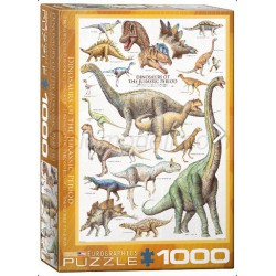 Dinosaurs of the Jurassic Period. Puzzle Vertical, 1000 pz. Marca Eurographics. Ref: 6000-0099.