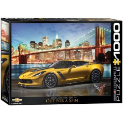 Corvette Z06 Out for a Spin. Puzzle horizontal, 1000 pz. Marca Eurographics. Ref: 6000-0735.