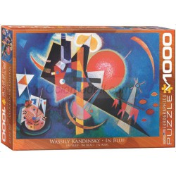 In Blue, Kandinsky. Puzzle horizontal, 1000 pz. Marca Eurographics. Ref: 6000-1897.