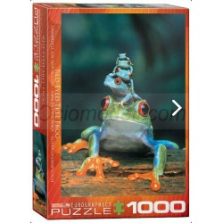 Red-Eyed Tree Frog. Puzzle vertical, 1000 pz. Marca Eurographics. Ref: 6000-3004.
