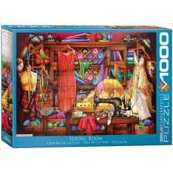 Sewing Room. Puzzle horizontal, 1000 pz. Marca Eurographics. Ref: 6000-5347.