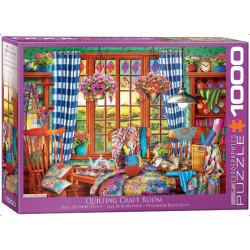 Quilting Craft Room. Puzzle horizontal, 1000 pz. Marca Eurographics. Ref: 6000-5348.