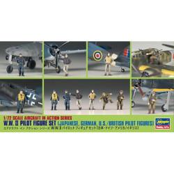 Set Figuras Pilotos de la WWII. Escala 1:72. Marca Hasegawa. Ref: X72-8.