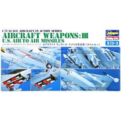 Set Armas de Aviones Estadounidenses III. Escala 1:72. Marca Hasegawa. Ref: X72-3.