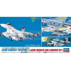 Set Armas de aviones JASDF: conjunto de misiles y lanzador JASDF . Escala 1:72. Marca Hasegawa. Ref: X72-10.