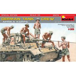 """Figuras para tanques Alemanes """"Afrika Korps"""" Especial Edición. Escala 1:35. Marca Miniart. Ref: 35278."""