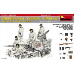 """Figuras para tanques Alemanes """" WINTER UNIFORMS """" Especial Edición. Escala 1:35. Marca Miniart. Ref: 35249."""