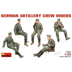Figuras GERMAN ARTILLERY CREW RIDERS. Escala 1:35. Marca Miniart. Ref: 35040.