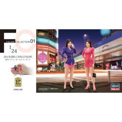 Paddock 2 Chicas japonesas de los 80´. Escala 1:24. Marca Hasegawa. Ref: 29101.
