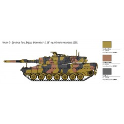 Leopard 2A4, contiene calcas españolas. Escala 1:35. Marca Italeri. Ref: 6559.