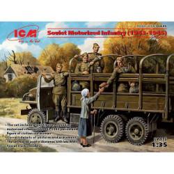 Tropas soviéticas transportadas (1943-1945 ), 4 figuras. Escala 1:35. Marca ICM. Ref: 35635.