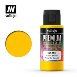 Premium Amarillo Básico. Premium Airbrush Color. Bote 60 ml. Marca Vallejo. Ref: 62003.