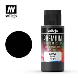 Premium Negro. Premium Airbrush Color. Bote 60 ml. Marca Vallejo. Ref: 62020.