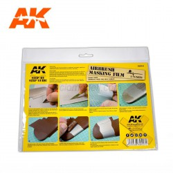 Hoja de enmascarar A4. 2 unidades. Marca AK Interactive. Ref: AK9045.
