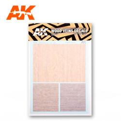 Calcas de madera con vetas. Escala 1:32, 1:35 y 1:48. Tamaño A5. Marca AK Interactive. Ref: AK9082.