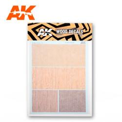 Calcas de madera clara. Escala 1:32, 1:35 y 1:48. Tamaño A5. Marca AK Interactive. Ref: AK9081.